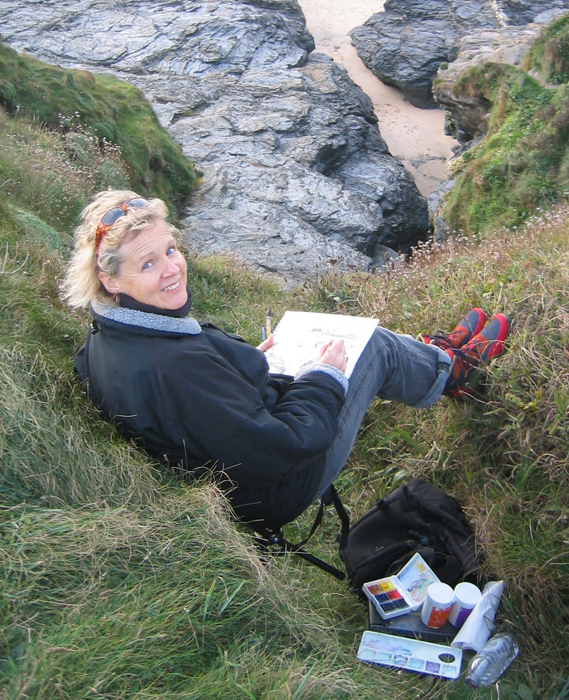 Jill Ogilvy working in the field